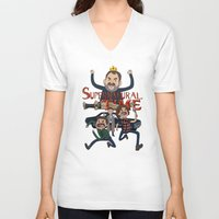 supernatural V-neck T-shirts featuring Supernatural Time!  by The Kao