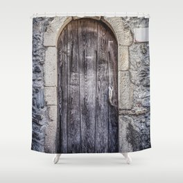 Old French Door Shower Curtain