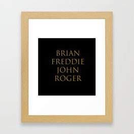 Bandmates XIII (Q) Framed Art Print