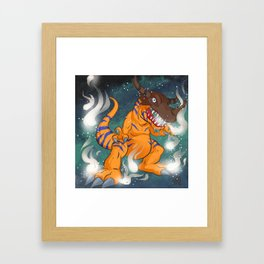 Greymon Framed Art Print