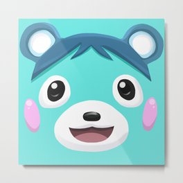 Animal Crossing Bluebear the Cub Metal Print
