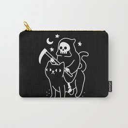 Death Rides A Black Cat Carry-All Pouch