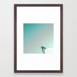 Two Palms in Venice 2 Framed Art Print