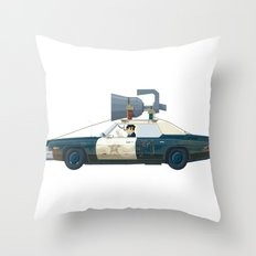 The Blues Brothers Bluesmobile 1/3 Throw Pillow
