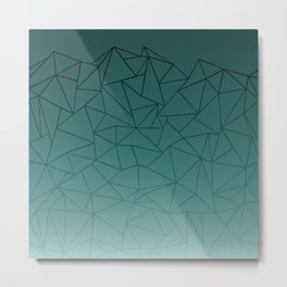 Abstract Ombre 1 Green Metal Print