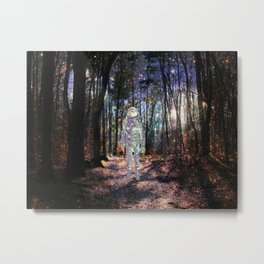 Spaceman in the Forest Metal Print