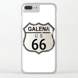 Galena Route 66 Clear iPhone Case