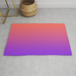 Gradient Ombre Living Coral Proton Purple Pattern Orange Peach Neon Ultra Violet Soft Trendy Texture Rug