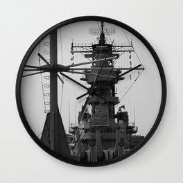 USS Wisconsin Wall Clock