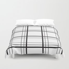 Checkered black and white classic pattern Duvet Cover