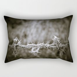 Ice on the Wire Rectangular Pillow