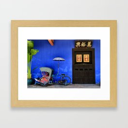 The Blue Mansion in Penang, Malaysia Framed Art Print
