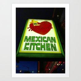 Mama's Kitchen in Belltown Seattle Art Print