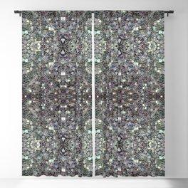 Sparkly colourful silver mosaic mandala Blackout Curtain
