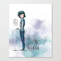 nurse Canvas Prints featuring Nurse  by Ginkelmier