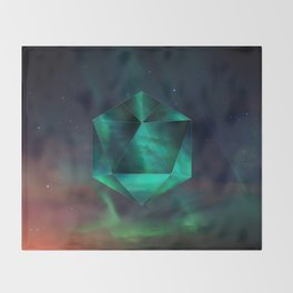 Magnetic fields Throw Blanket