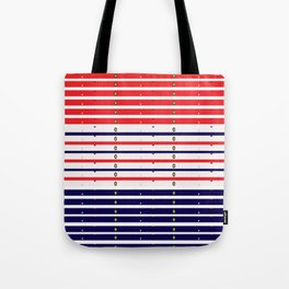 Red White & Blue in lights Tote Bag