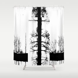 Trees in Transition Shower Curtain