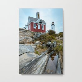 PEMAQUID POINT LIGHTHOUSE - MAINE - NEW ENGLAND - ATLANTIC COAST - LANDSCAPE PHOTOGRAPHY PRINT Metal Print