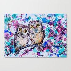 Little Owls version 2 Canvas Print