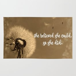 She Believed She Could Quote Rug