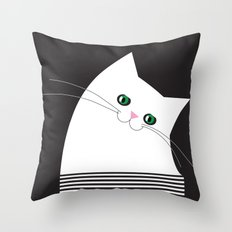 White Cat of Lisa Throw Pillow