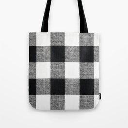 Black and White Buffalo Tote Bag
