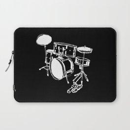 Drum Kit Rock Black White Laptop Sleeve