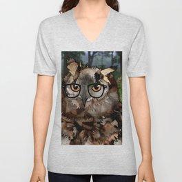 Owl's Good in the Woods Unisex V-Neck
