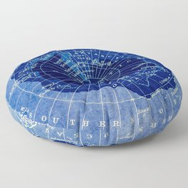 South Pole Neon Map Floor Pillow