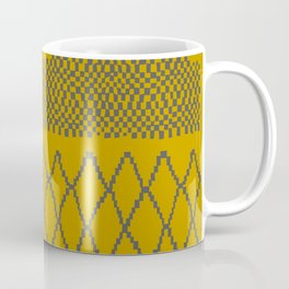 Moroccan Patchwork in Mustard Coffee Mug