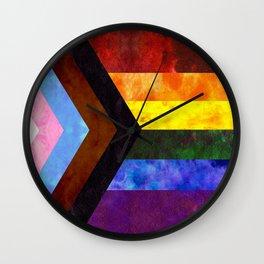 Progress Pride Quilt Wall Clock