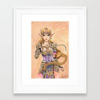 hyrule Framed Art Prints featuring Hyrule Valor by arumise