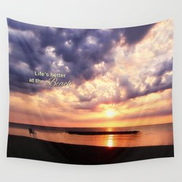 Life's Better at the Beach Wall Tapestry