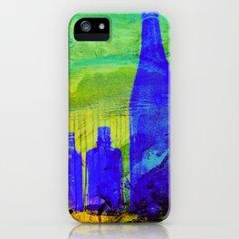 Blue Glass Bottles iPhone Case