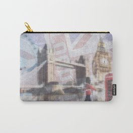 london collage - blue Carry-All Pouch