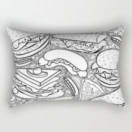 Junk and Health Food Frenzy Rectangular Pillow