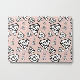 Diamonds are a girl's best friend Metal Print
