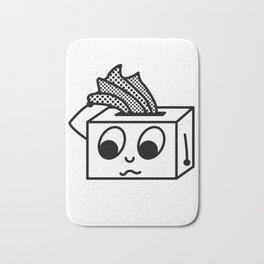 Bless You Sad Tissue Box Bath Mat