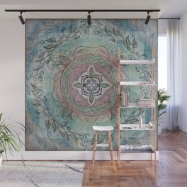 the four directions, a medicine wheel Wall Mural