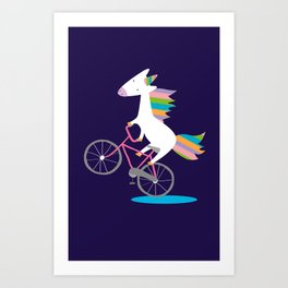 bike unicorn  Art Print