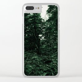 In the forest, the trees Clear iPhone Case