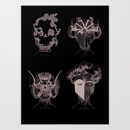quatre éléments, autant de forces domestiquées par l'homme Art Print