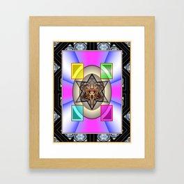 Cloured Stars! Framed Art Print