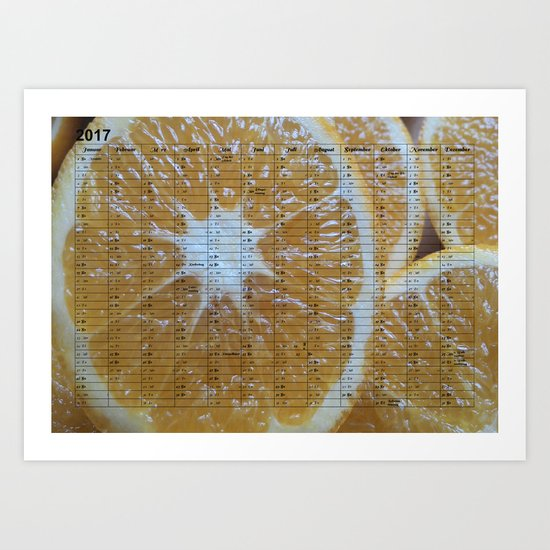 Kalender 2017 Orange Art Print