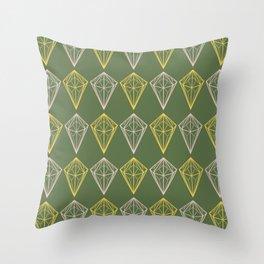 Kale Diamonds Geometric Throw Pillow