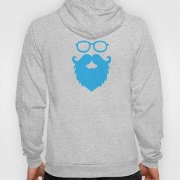 Hipster Beard Blue Hoody
