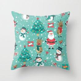 Christmas Mix Throw Pillow