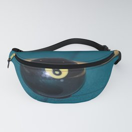 8 Ball and Pool Cue Perfect Father's Day Gift or For the Man Cave Fanny Pack
