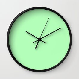 Pastel Colors: Chrysoprase Wall Clock